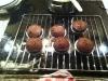 Blødende chokoladekager på en rist