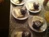 Blødende chokoladekager og vannileis