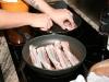 Bacon på en pande