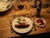 Opdækket bord