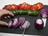 Rødløg, tomat og agurk