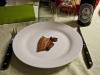 Røget bacon på tallerken (appetizer)